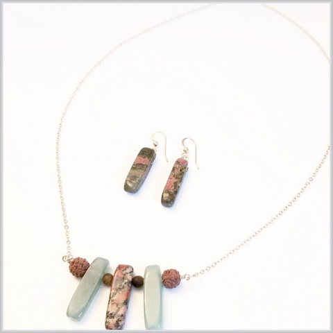 Unakite and Aventurine Set