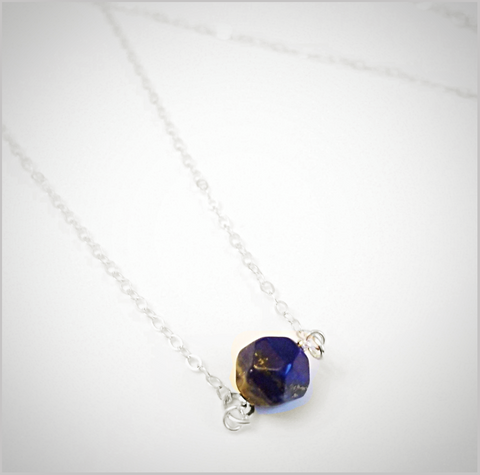Natural Faceted Lapis Lazuli Necklace
