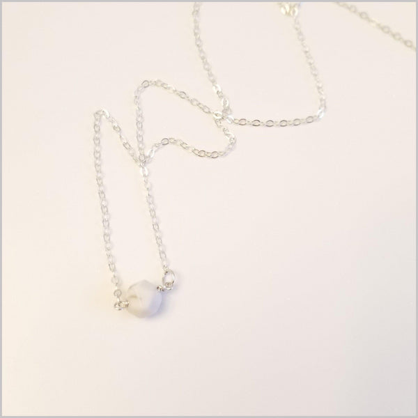 Natural Faceted Howlite Necklace