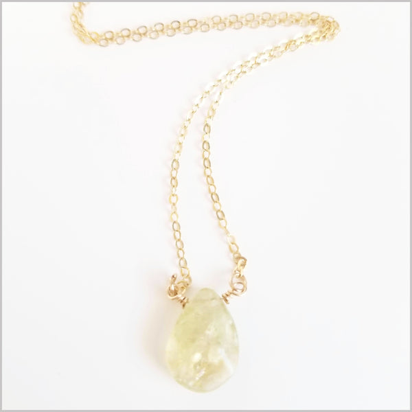 Natural Tear Drop Citrine Necklace