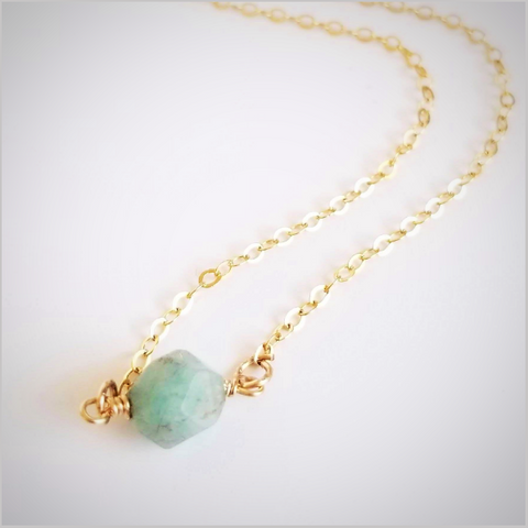 Natural Faceted Amazonite Necklace