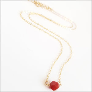 Natural Faceted Carnelian Necklace