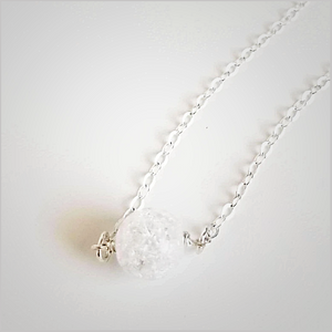 Natural Crackle Quartz Bead Necklace