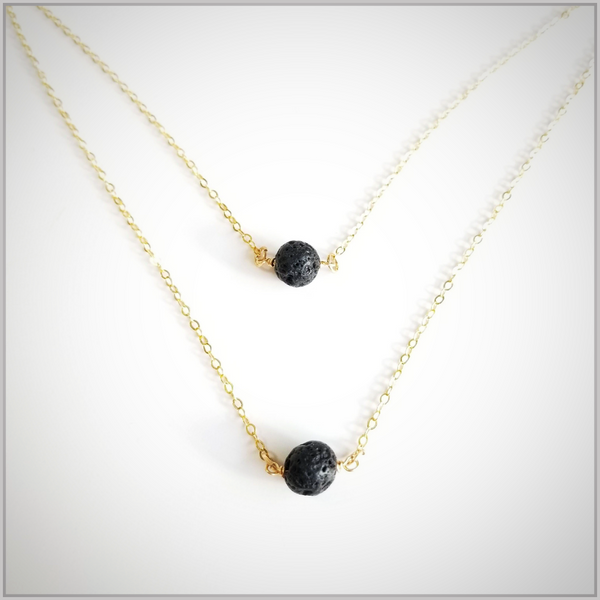 Essential Oil Lava Bead Necklace