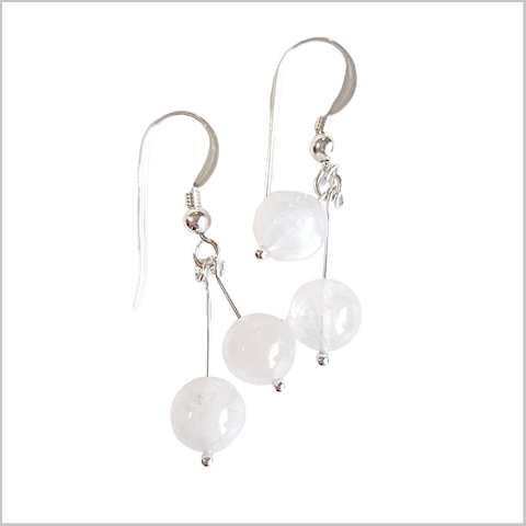 Dual Gemstone Moonstone Dangle