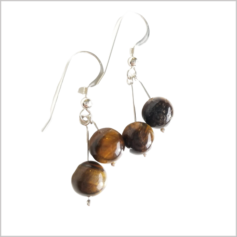 Dual Gemstone Tigers Eye Dangle