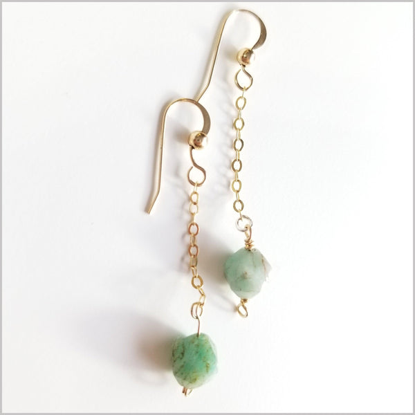 Faceted Amazonite Drop Earring