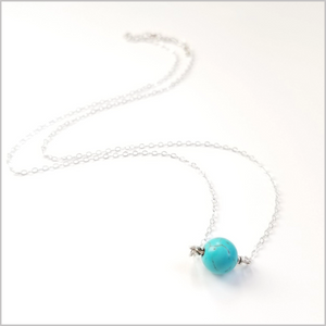 Natural Blue Howlite Necklace