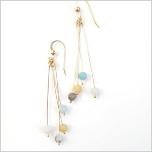 Natural Amazonite Dangle Earrings