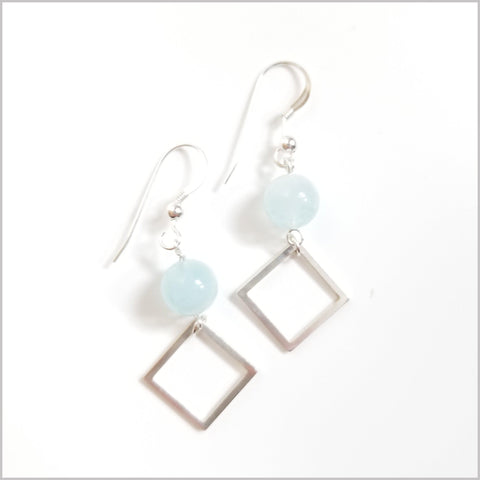 Square Aquamarine Dangle