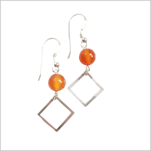 Square Agate Dangle