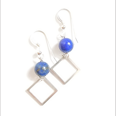 Square Lapis Lazuli Dangle