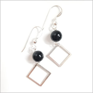 Square Onyx Dangle