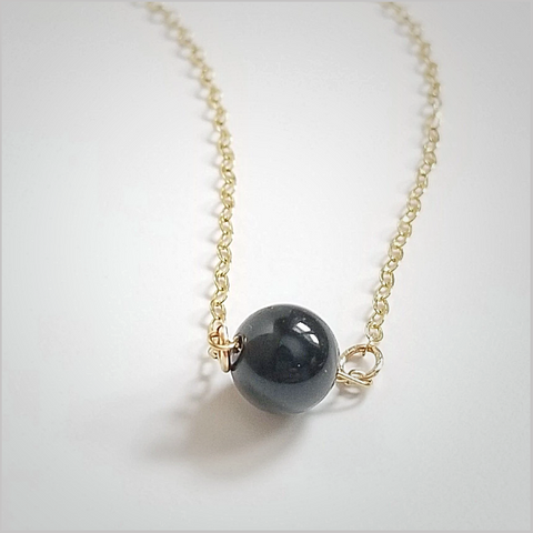 Natural Onyx Bead Necklace