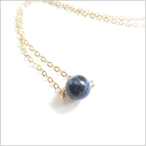 Natural Sodalite Bead Necklace
