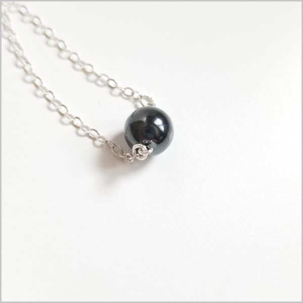 Natural Hematite Bead Necklace