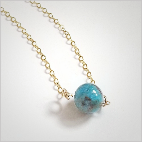 Natural Apatite Bead Necklace