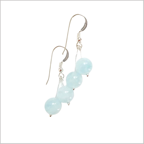 Dual Gemstone Aquamarine Dangle