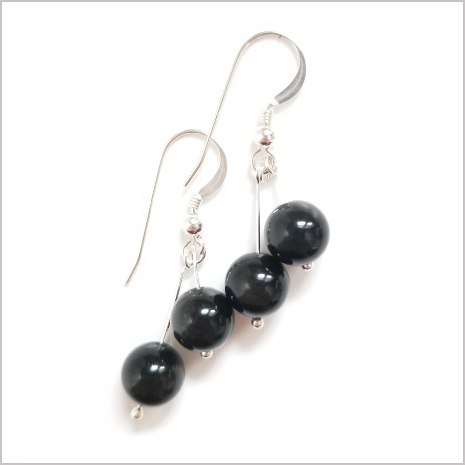 Dual Gemstone Onyx Dangle