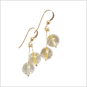 Dual Gemstone Rutilated Quartz Dangle