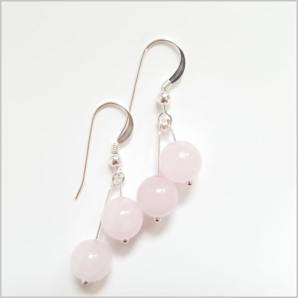 Dual Gemstone Rose Quartz Dangle
