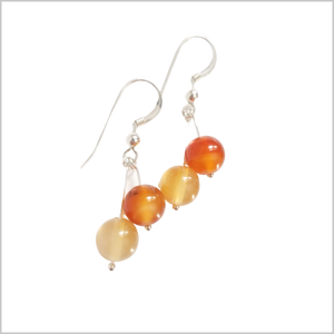 Dual Gemstone Agate Dangle