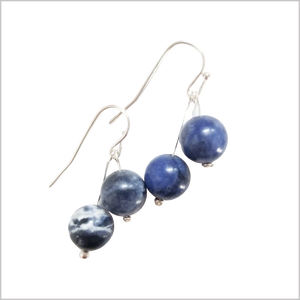 Dual Gemstone Sodalite Dangle