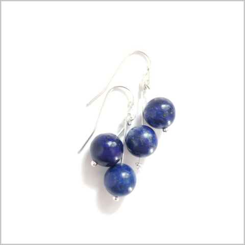 Dual Gemstone Lapis Lazuli Dangle