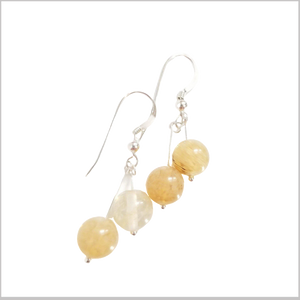 Dual Gemstone Citrine Dangle