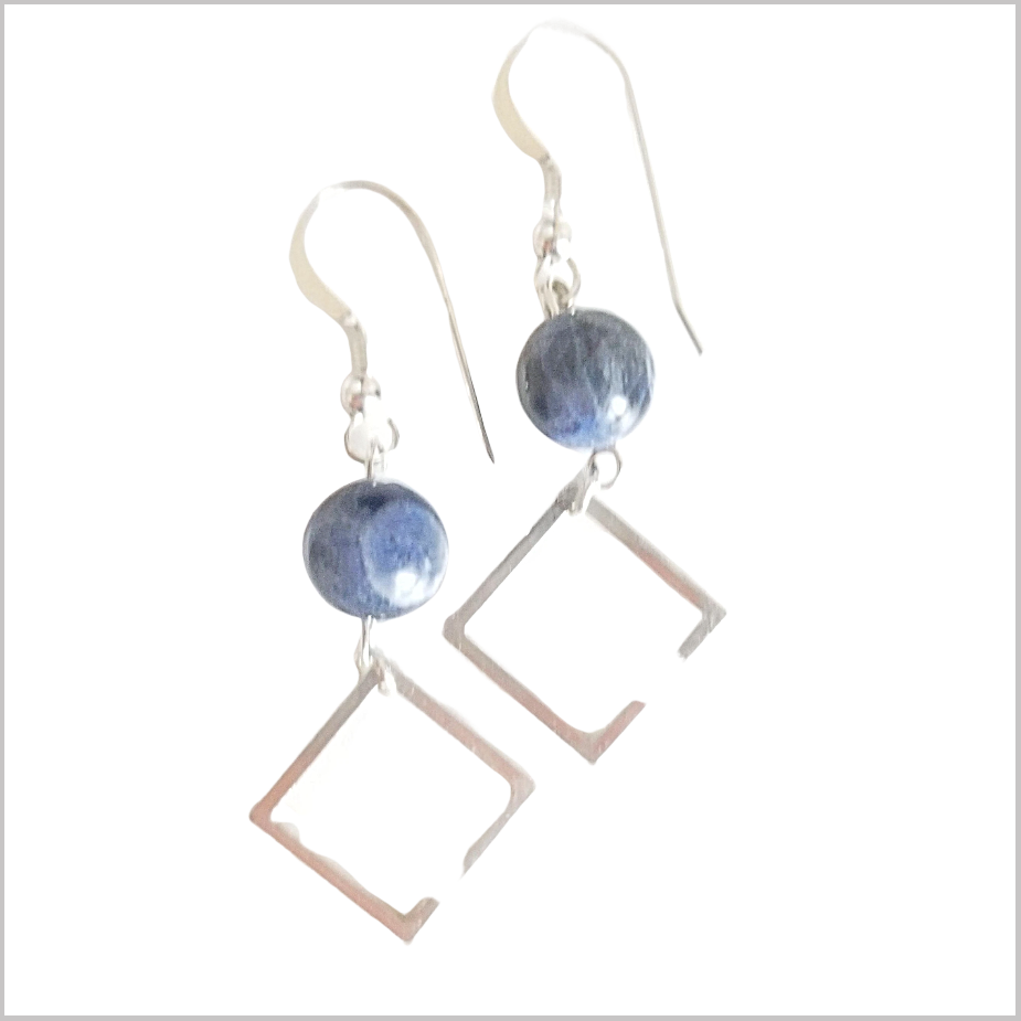 Square Sodalite Dangle