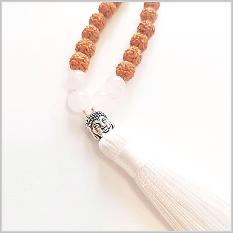 108 Bead Rose Quartz Stone Mala - Unconditional Love