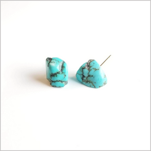 Raw Turquoise Stone Studs