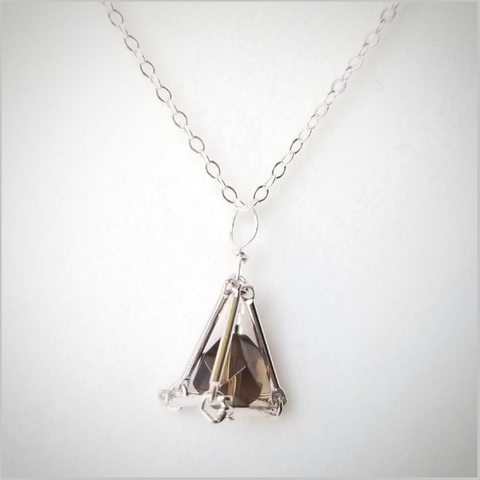 Geometric Smoky Quartz Crystal