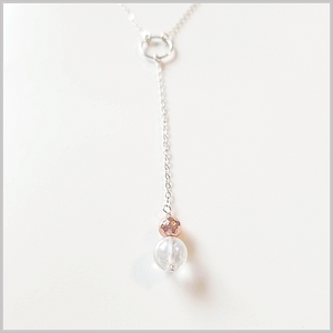 Crackle Quartz Lariat Necklace