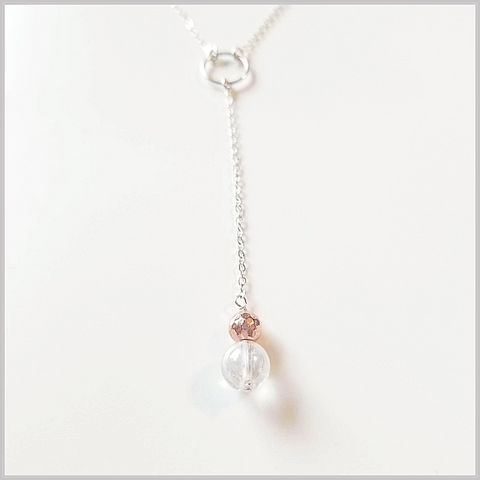 "Crackle Quartz Lariat ""Y"" Necklace"