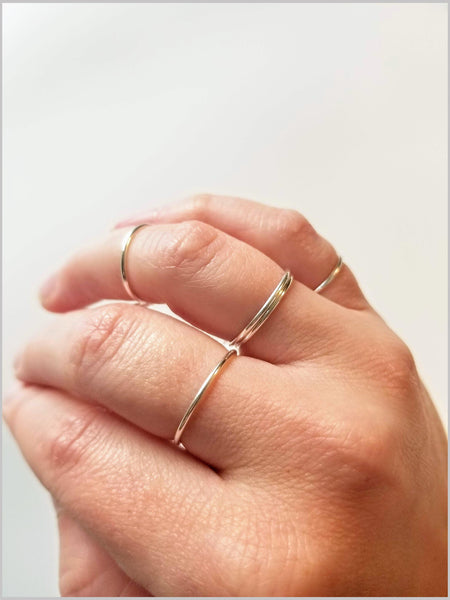 Sterling Silver Stacking Bands