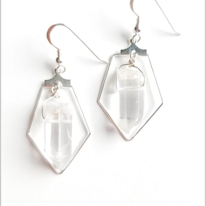 Sacred Pentagon Quartz Earring