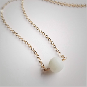 Natural (Matte) Amazonite Bead Necklace