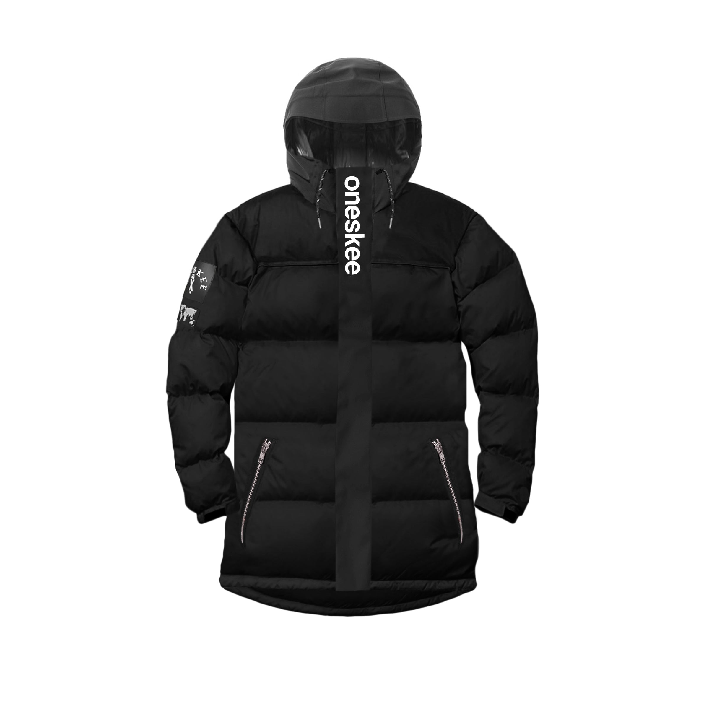 Technical Puffer Jacket - Black image 9