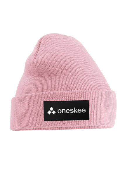 Patch Beanie - Pink