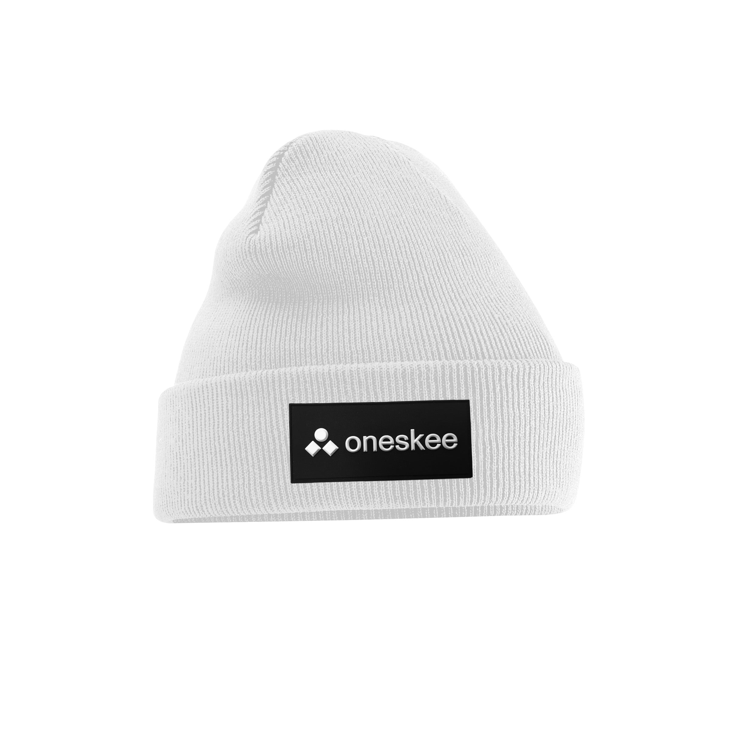 Patch Beanie - White image