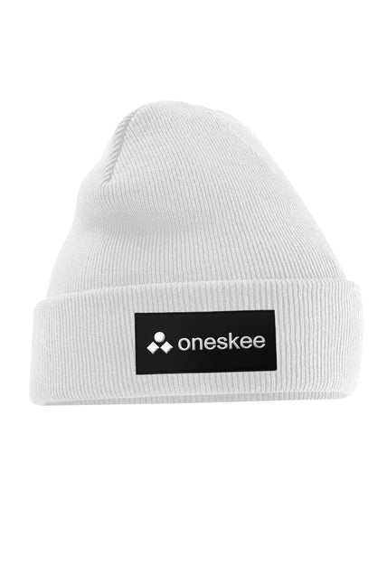 Patch Beanie - White