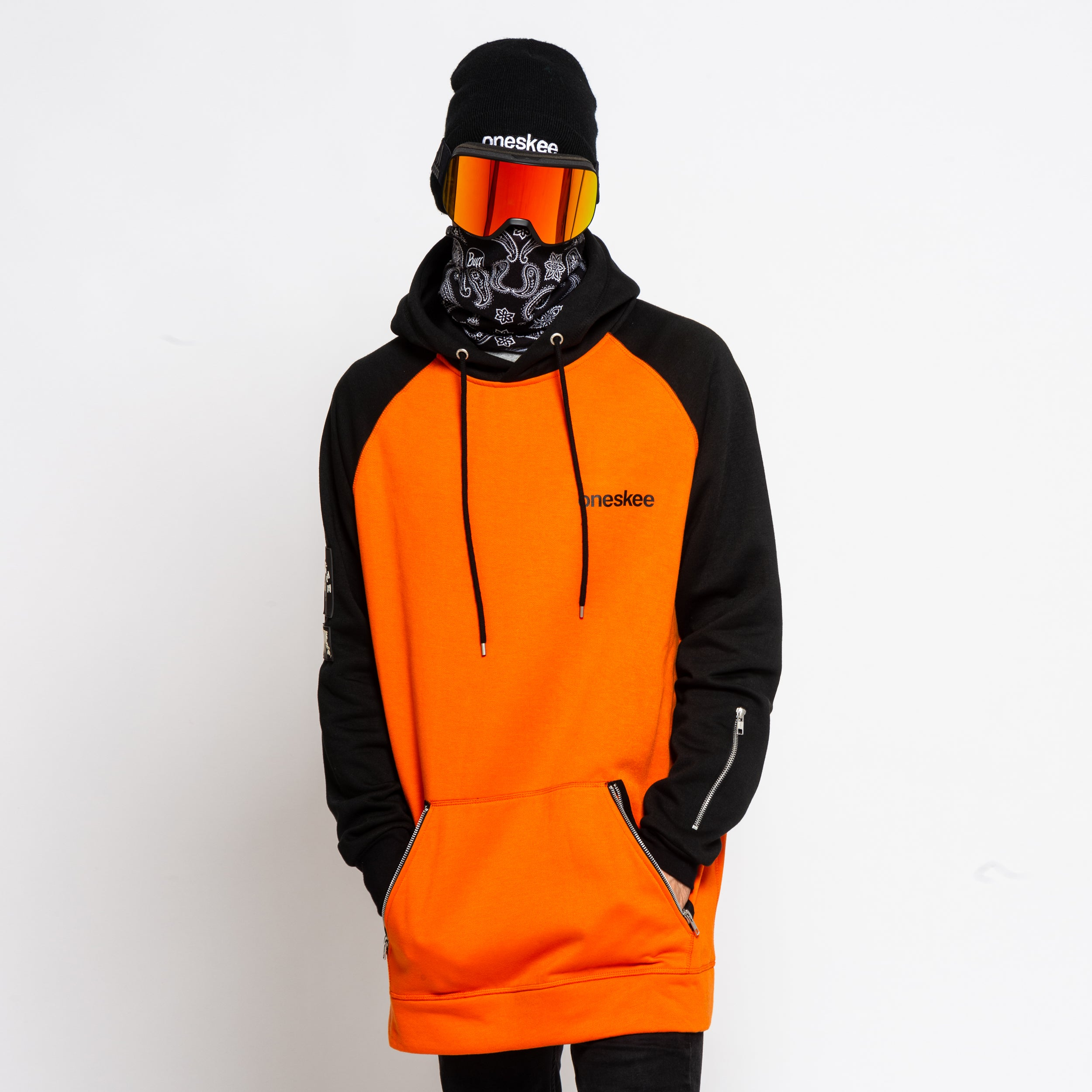Men's Technical Raglan Hoodie - Orange image 1