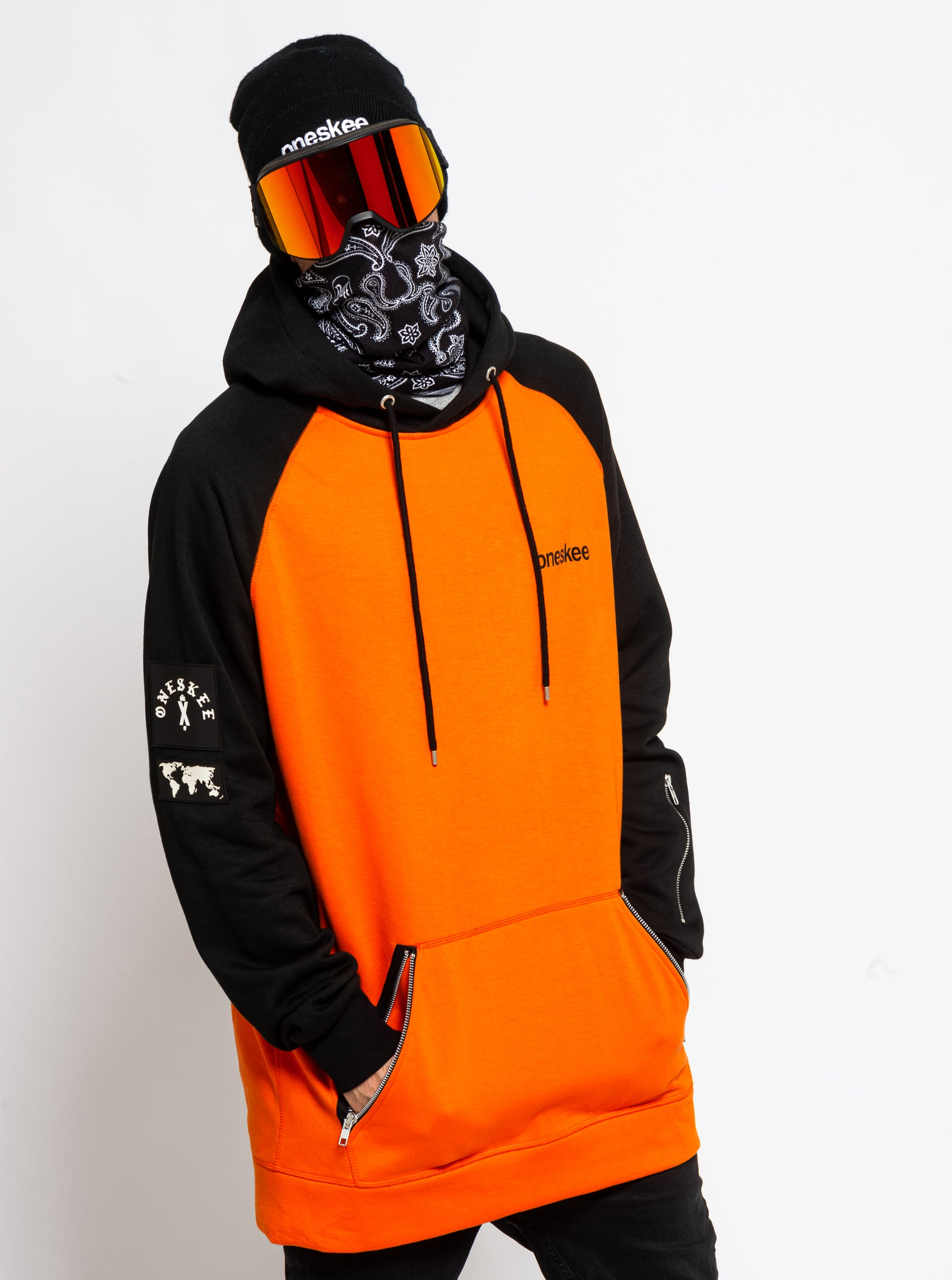Men's Technical Raglan Hoodie - Orange image 3