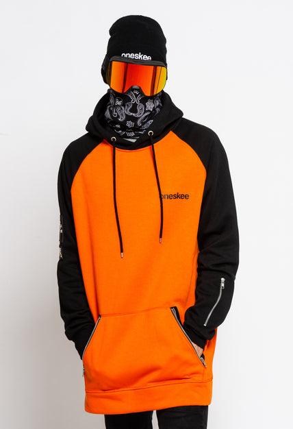 Men's Technical Raglan Hoodie - Orange