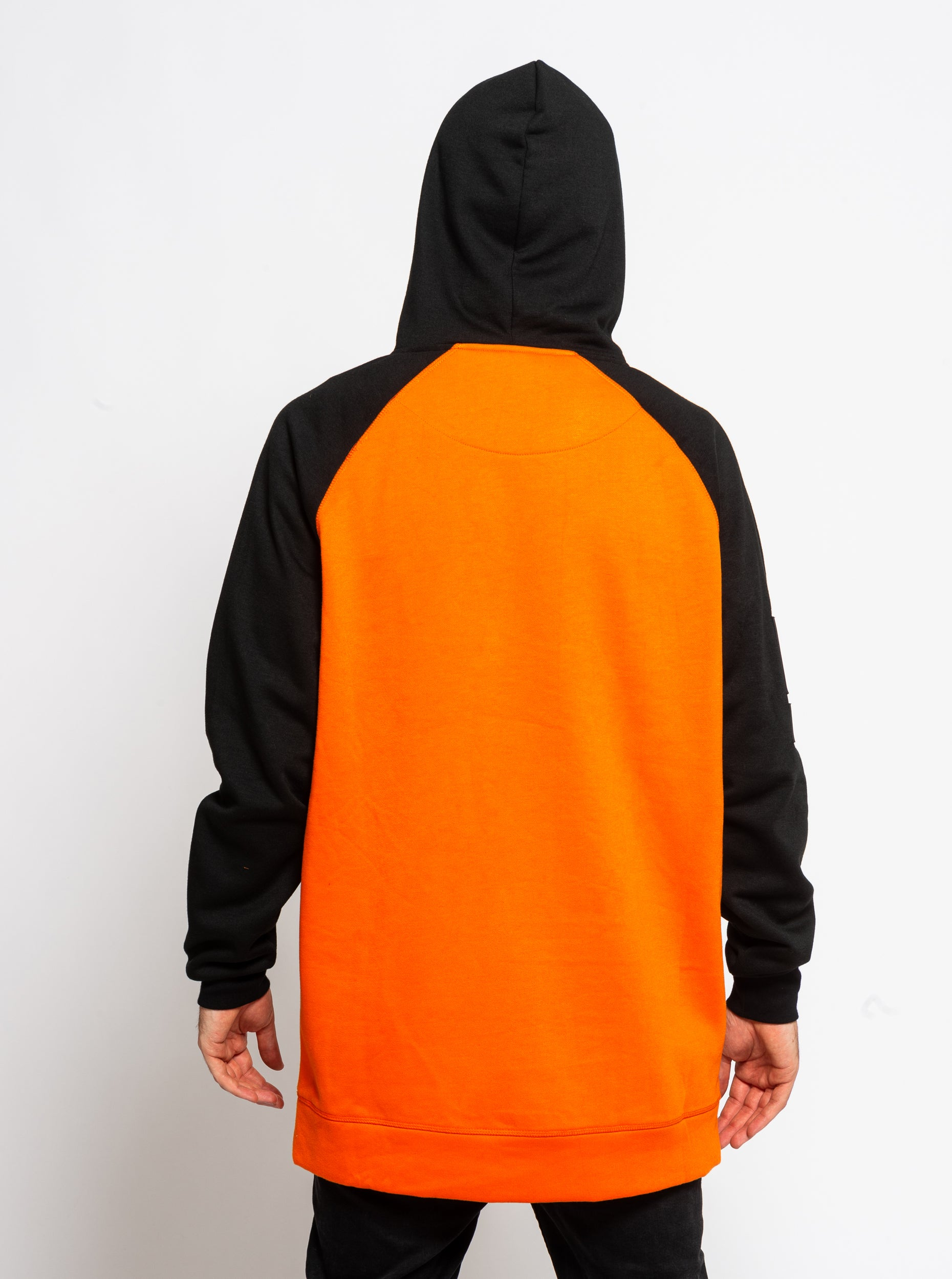Men's Technical Raglan Hoodie - Orange image 4