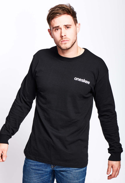 Oneskee Long Sleeve Tee - Black