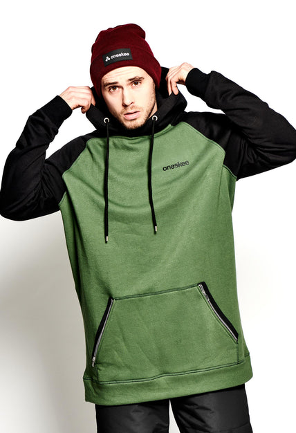 Men's Technical Raglan Hoodie - Olive