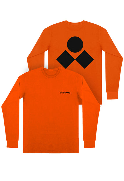 Oneskee Long Sleeve Tee - Orange