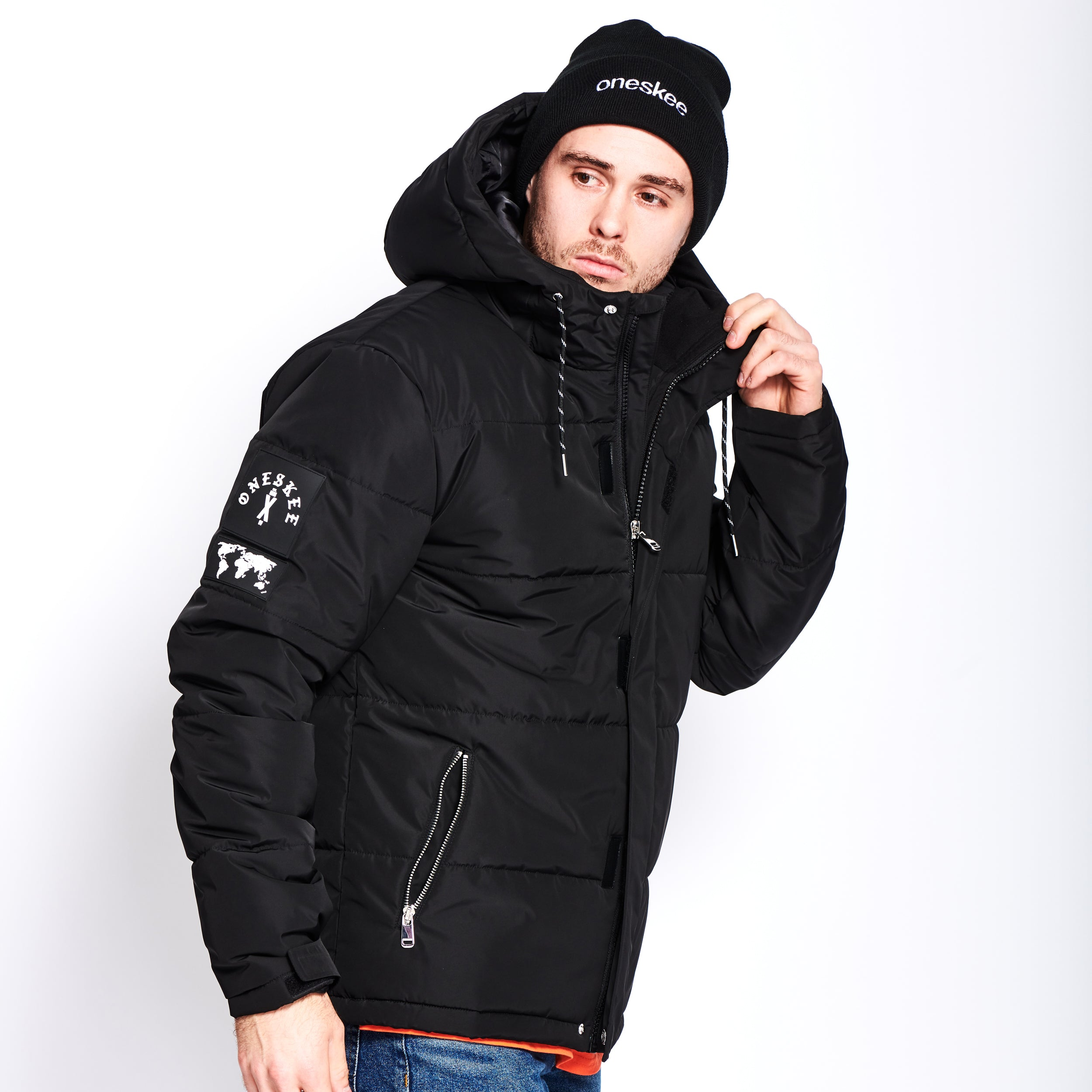 Technical Puffer Jacket - Black image 2